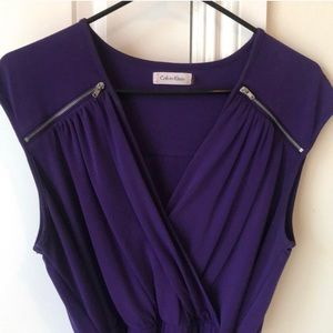 Calvin Klein Dresses - Purple Calvin Klein Dress with Silver Zippers